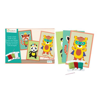 Mandarine Avenue Animal Lacing Cards | Koop.co.nz