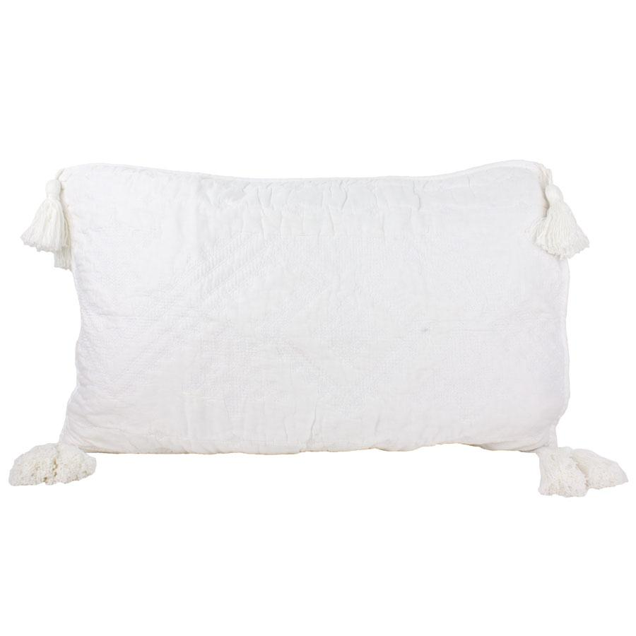 Macey & Moore Gloria Rectangle Tassel Cushion Cover | Koop.co.nz
