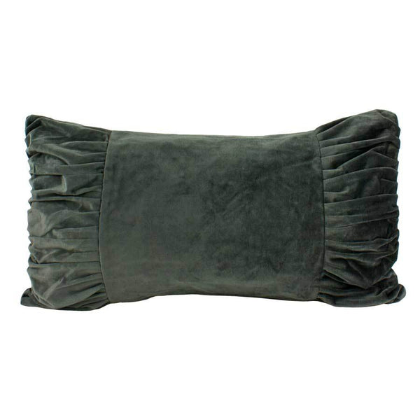 Macey & Moore Luxe Velvet Bow Cushion Cover – Charcoal | Koop.co.nz