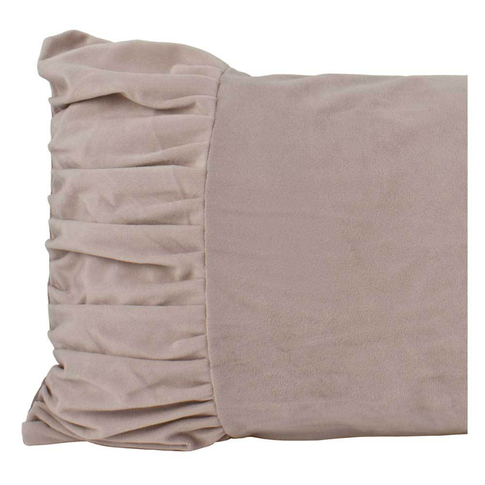 Macey & Moore Luxe Velvet Bow Cushion Cover – Blush | Koop.co.nz