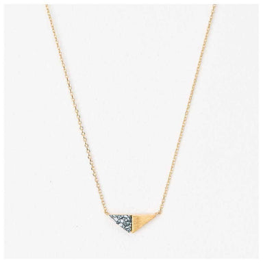 Stella & Gemma Gold & White Howlite Triangle Necklace | Koop.co.nz