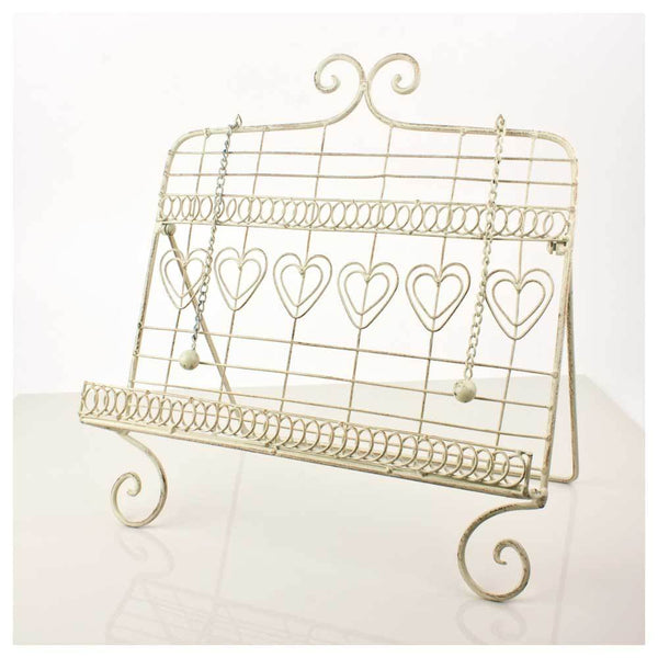 Jalan Cream Heart Cook Book Holder | Koop.co.nz