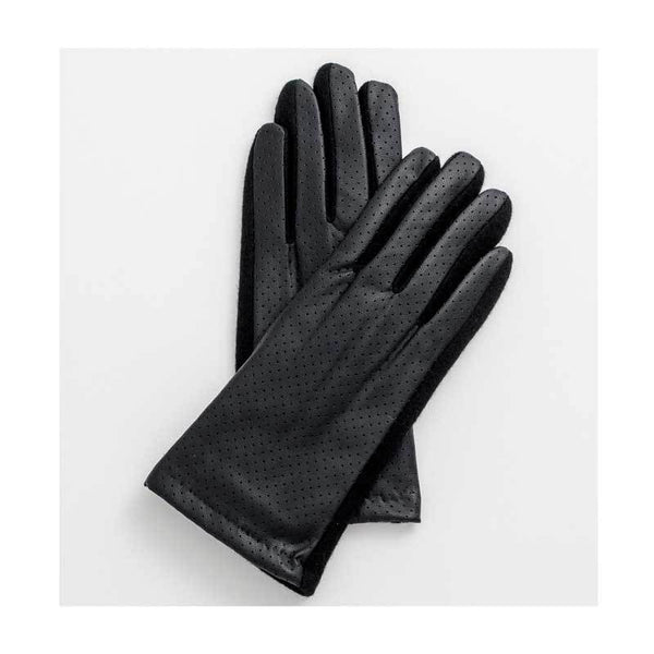 Stella & Gemma Black PU Leather Gloves | Koop.co.nz