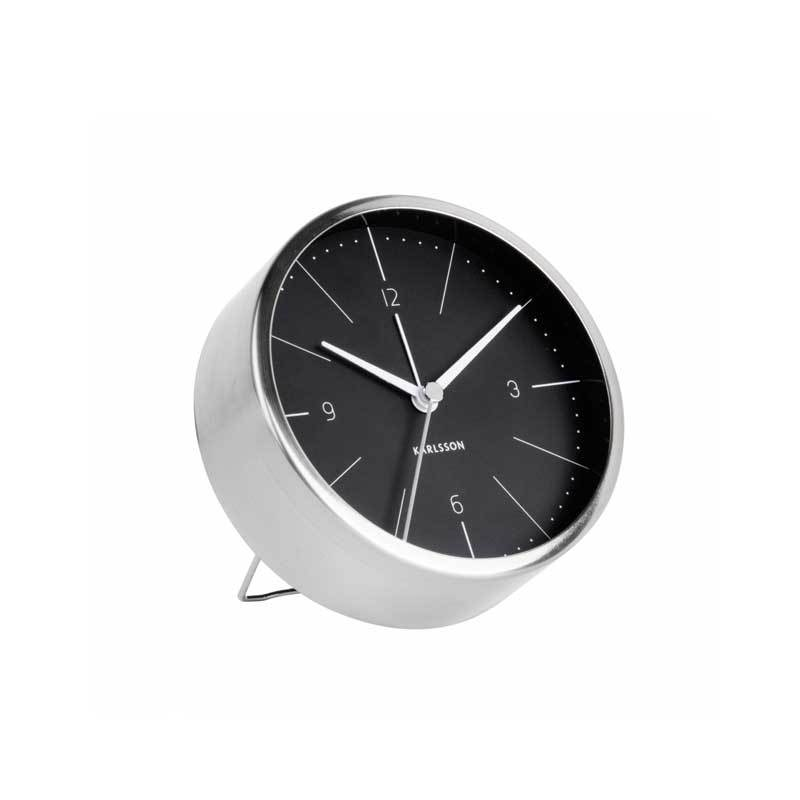 Karlsson Black Normann Alarm Clock | Koop.co.nz