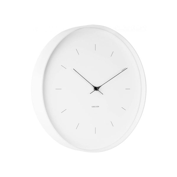 Karlsson Butterfly Hands Clock – White (27cm) | Koop.co.nz