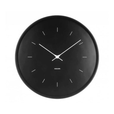 Karlsson Butterfly Hands Clock – Black (27cm) | Koop.co.nz