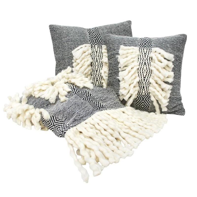 Banyan Home Black Zara Throw | Koop.co.nz