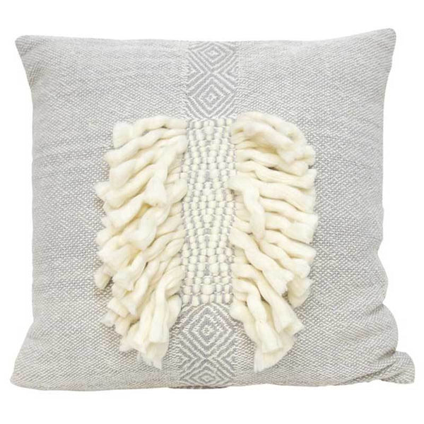 Banyan Home Grey Zara Cushion (55cm) | Koop.co.nz