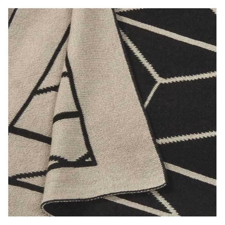 Amalfi Reversible Empire Knit Throw – Black & Grey | Koop.co.nz