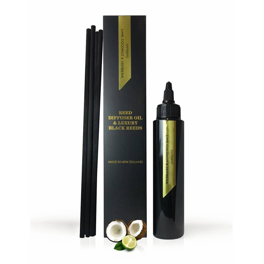 Surmanti Diffuser Oil & Reed Refil - Lime, Coconut & Verbena (100ml) | Koop.co.nz