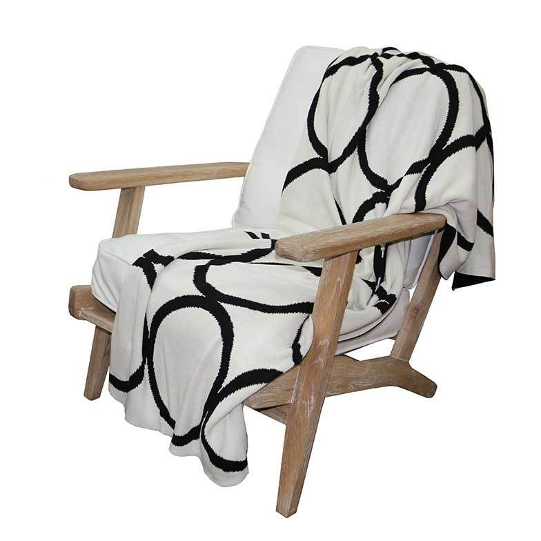 Le Forge Reversible Circle Throw – Black | Koop.co.nz