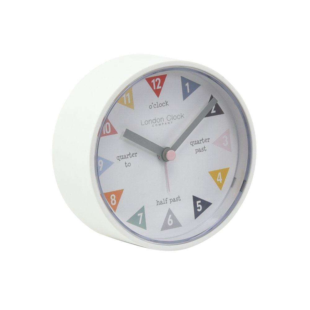 London Clock Company Tell The Time Alarm Clock - White | Koop.co.nz