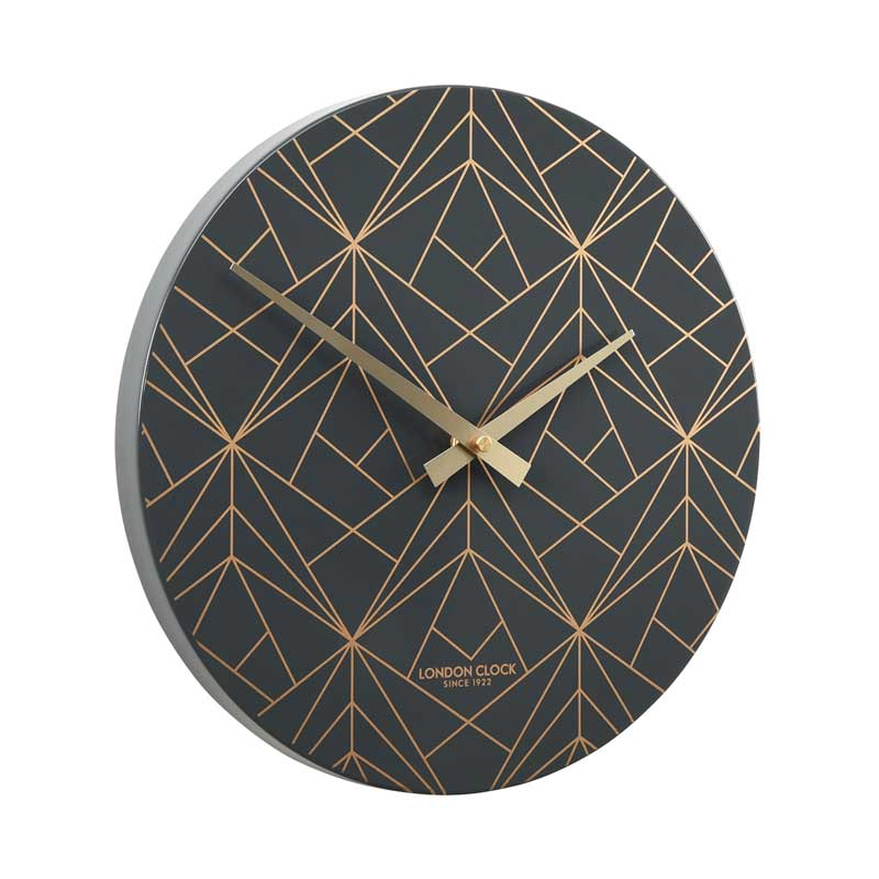 London Clock Company Fragment Wall Clock – Charcoal (30cm) | Koop.co.nz