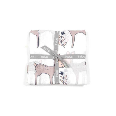 Indus Design Cotton Baby Wrap – Daisy Deer | Koop.co.nz