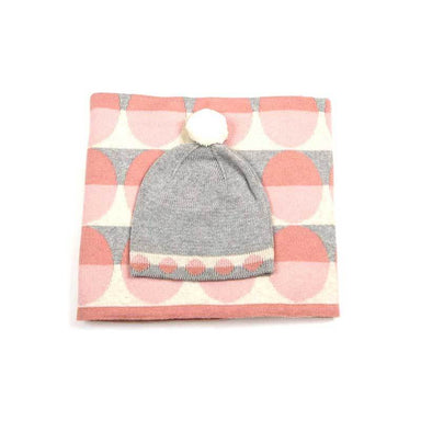 Indus Design Baby Blanket & Hat Gift Set - Pink | Koop.co.nz