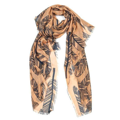 Indus Design Feather Scarf - Coffee | Koop.co.nz