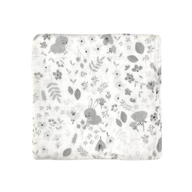 Mister Fly Floral Bunny Muslin Wrap | Koop.co.nz