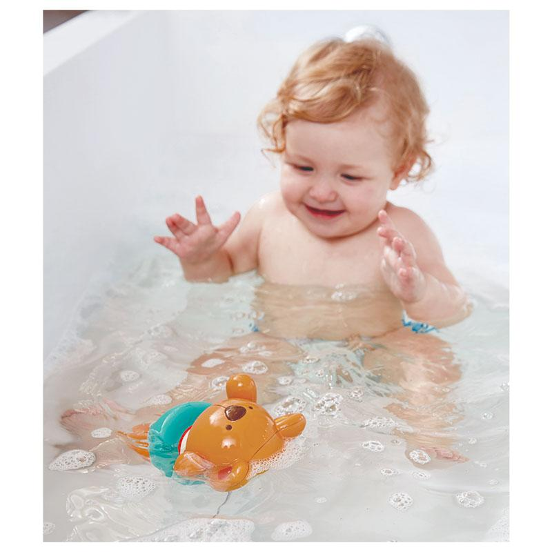 Hape Swimmer Teddy Wind-Up Bath Toy | Koop.co.nz