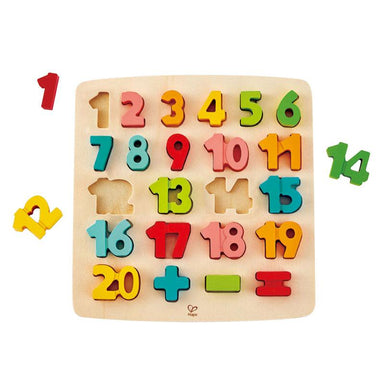 Hape Chunky Number Math Puzzle (24pc) | Koop.co.nz