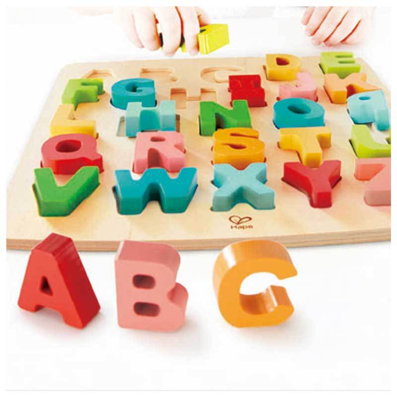 Hape Chunky Alphabet Puzzle (27pc) | Koop.co.nz