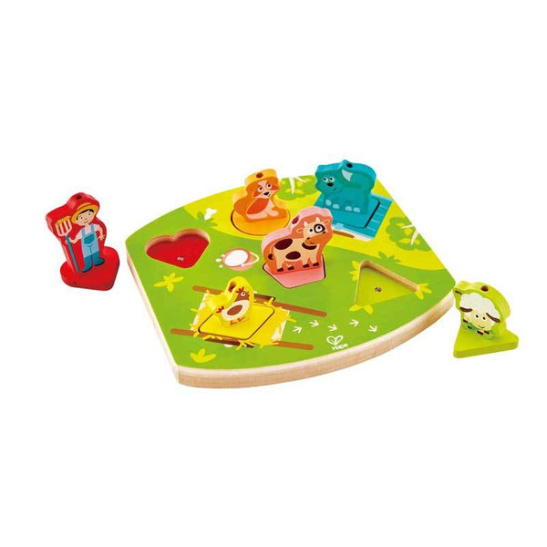 Hape Farmyard Sound Puzzle (7pc) | Koop.co.nz