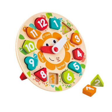 Hape Chunky Clock Puzzle (13pc) | Koop.co.nz