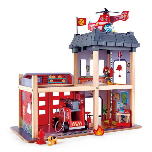 Hape City Fire Station (13pc) | Koop.co.nz