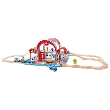 Hape Grand City Station Train Set (49pc) | Koop.co.nz