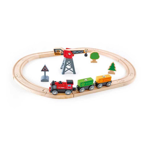 Hape Cargo Delivery Loop (19pc) | Koop.co.nz