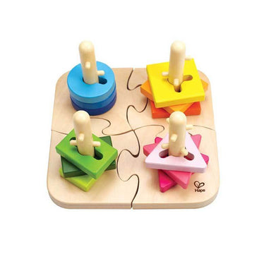 Hape Creative Peg Puzzle (16pc) | Koop.co.nz