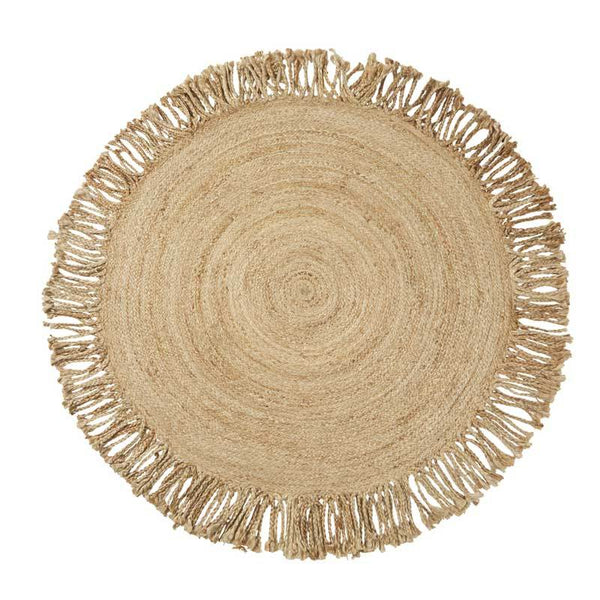 Amalfi Jute Braided Tassel Rug | Koop.co.nz