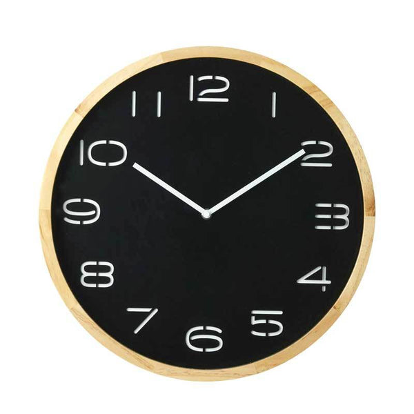 Amalfi Black Leni Wall Clock (41.5cm) | Koop.co.nz