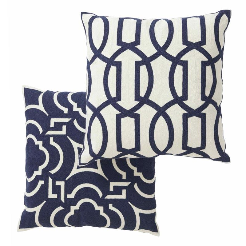 Society Home Lowell Crewel Cushion  (50cm) | Koop.co.nz