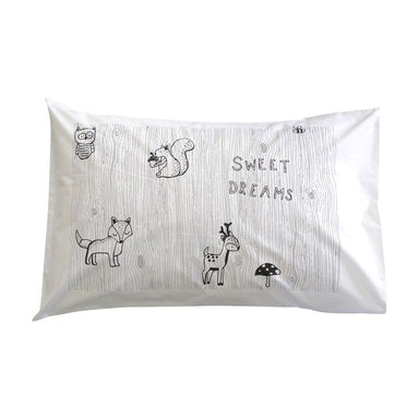 Henry & Co. Sweet Dreaming Pillowcase - Black/Grey | Koop.co.nz