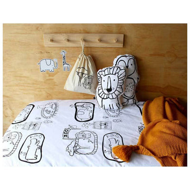Henry & Co. Fitted Cot Sheet - Zoo World | Koop.co.nz