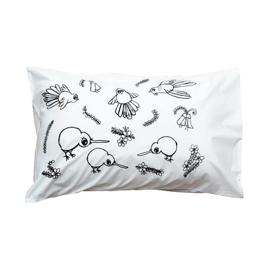 Henry & Co. Bird Party Pillowcase | Koop.co.nz