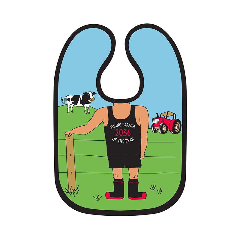 Moana Road Farmer Baby Bib | Koop.co.nz
