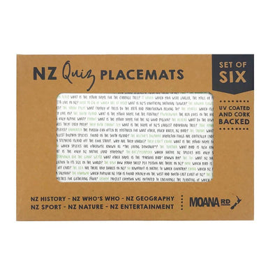 Moana Road NZ Quiz Placemat (Set 6) | Koop.co.nz