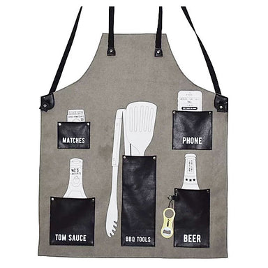 Moana Road Kiwi BBQ Apron With Bottle Opener - Black | Koop.co.nz