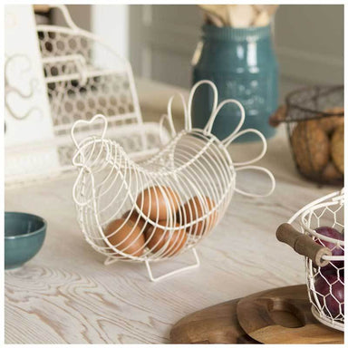 T&G Chicken Egg Basket - Cream | Koop.co.nz