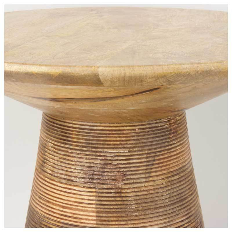 Madras Link Hancock Ribbed Side Table (56cm) | Koop.co.nz