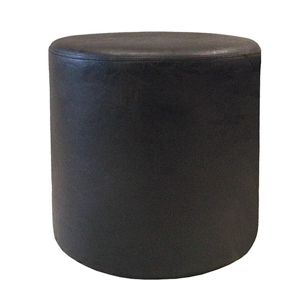 Madras Link Boston Faux Leather Ottoman - Charcoal | Koop.co.nz