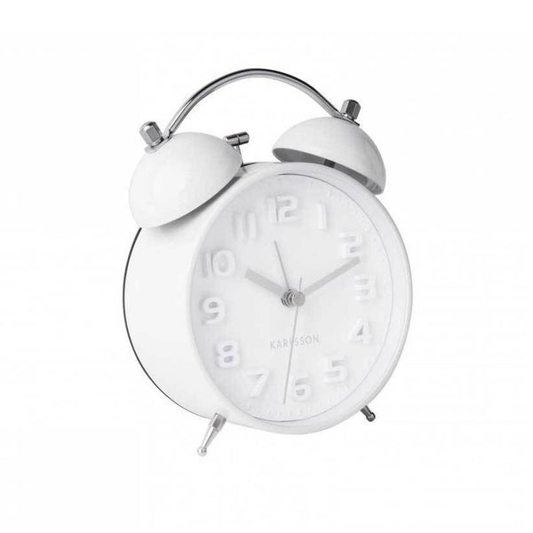 Karlsson Mr White Alarm Clock - White | Koop.co.nz