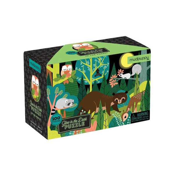 Mudpuppy Glow in the Dark Puzzle - Forest (100pc) | Koop.co.nz