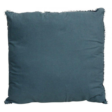 LaVida Linen Beaded Cushion - Blue (50cm) | Koop.co.nz