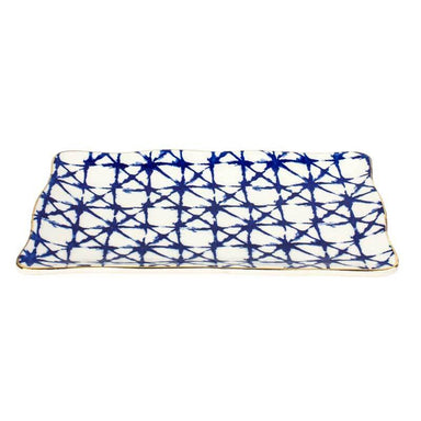 LaVida Rectangle Shibori Plate | Koop.co.nz