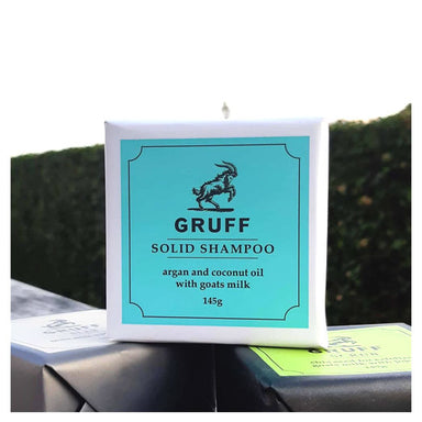 Gruff Solid Shampoo – Argan & Coconut Oil with Goats Milk (145g) | Koop.co.nz