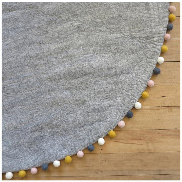 Sheepish Design NZ Wool Rug – Grey/Multi | Koop.co.nz