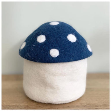 Sheepish Design Hand Made NZ Wool Toadstool Storage Box - Peacock | Koop.co.nz