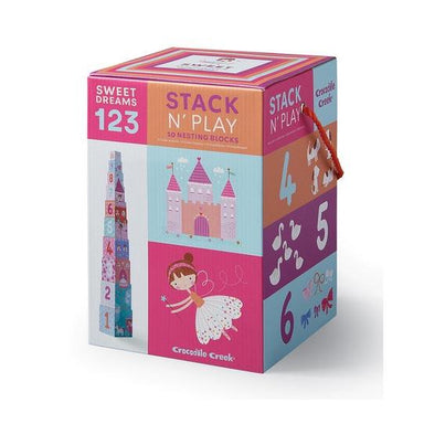 Crocodile Creek Stack N Play Nesting Blocks ABC/123 - Sweet Dreams | Koop.co.nz